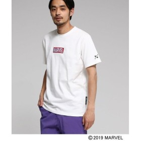 BASE STATION / ベースステーション コラボ別注 MARVEL マーベル アイアンマン 刺繍 Tシャツ