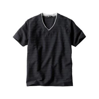 フェイクレイヤードVネック半袖Tシャツ Tシャツ・カットソー
