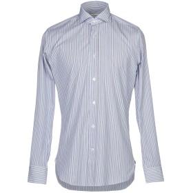 《セール開催中》GUGLIELMINOTTI メンズ シャツ ダークブルー 39 コットン 100%
