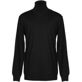 《セール開催中》GAZZARRINI メンズ タートルネック ブラック XXL ウール 100%