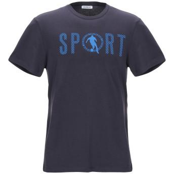 《セール開催中》BIKKEMBERGS メンズ T シャツ ダークブルー S コットン 92% / ポリウレタン 8%