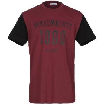 《セール開催中》BIKKEMBERGS メンズ T シャツ ディープパープル M コットン 95% / ポリウレタン 5%