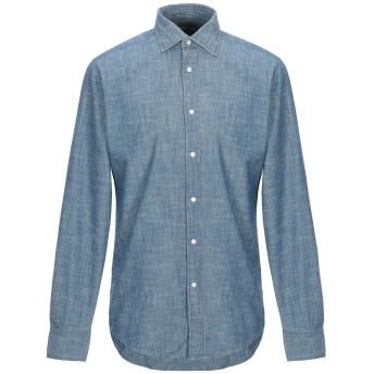 《期間限定セール開催中!》DEPERLU メンズ デニムシャツ ブルー M コットン 100%