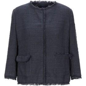 《期間限定 セール開催中》BLUE LES COPAINS レディース テーラードジャケット ダークブルー 40 コットン 50% / 麻 50%