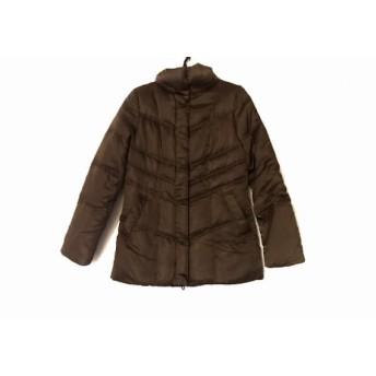 【中古】 アンタイトル UNTITLED ダウンジャケット サイズ2 M レディース ブラウン 冬物