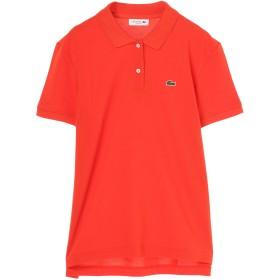 LACOSTE LACOSTE/ラコステ ポロシャツ レディース 半袖 プチピケレギュラーフィット ウォッシャブル ポロシャツ,オレンジ
