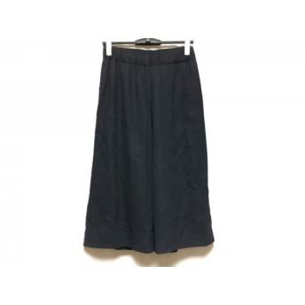 【中古】 ミズイロインド mizuiro ind パンツ サイズ2 M レディース 美品 ダークネイビー