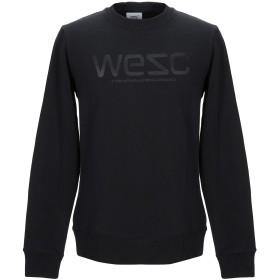《送料無料》WESC メンズ スウェットシャツ ブラック S コットン 100%