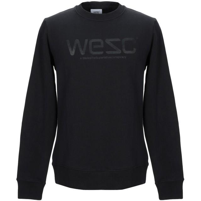 《期間限定 セール開催中》WESC メンズ スウェットシャツ ブラック L コットン 100%