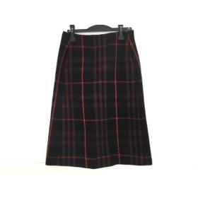 【中古】 ミラオーウェン Mila Owen スカート サイズ1 S レディース ネイビー 黒 レッド チェック柄