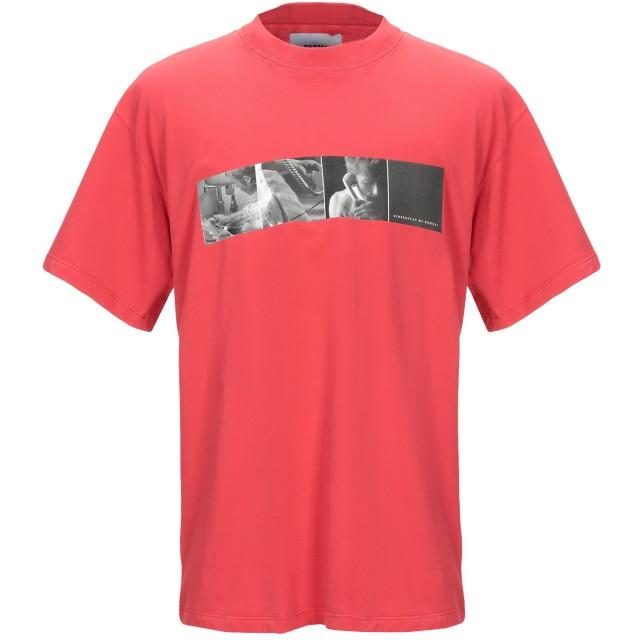 《期間限定セール開催中!》BONSAI メンズ T シャツ レッド XL コットン 100%