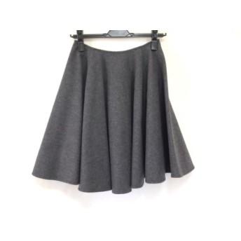 【中古】 エストネーション ESTNATION スカート サイズ36 S レディース ダークグレー