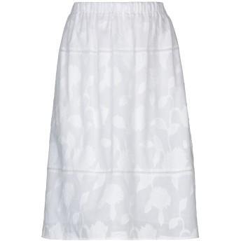 《セール開催中》BLUE LES COPAINS レディース ひざ丈スカート ホワイト 40 コットン 100% / ポリエステル