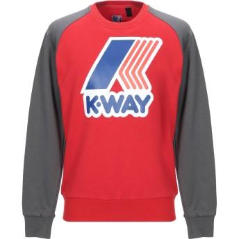 《9/20まで! 限定セール開催中》K-WAY メンズ スウェットシャツ レッド XL ポリエステル 65% / コットン 35%