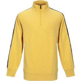 《期間限定 セール開催中》NAPAPIJRI メンズ スウェットシャツ イエロー M コットン 95% / ポリウレタン 5%