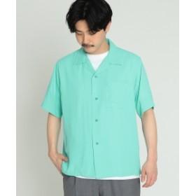 BEAMS / ウォッシャブル オープンカラー シャツ メンズ カジュアルシャツ TEAL M