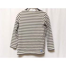 【中古】 オーシバル ORCIVAL 長袖Tシャツ サイズ1 S レディース アイボリー ダークネイビー ボーダー