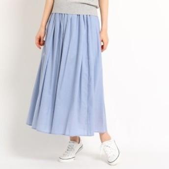 デッサン(レディス)(Dessin Ladies)/【洗える】【ウエストゴム】レーヨン混ギャザースカート