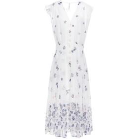《セール開催中》PEPE JEANS レディース 7分丈ワンピース・ドレス ホワイト XS ポリエステル 100%