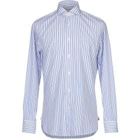 《セール開催中》GUGLIELMINOTTI メンズ シャツ アジュールブルー 38 コットン 100%