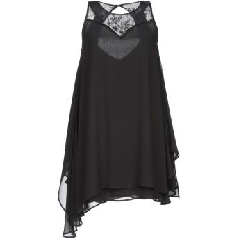 《セール開催中》BLUGIRL BLUMARINE レディース ミニワンピース&ドレス ブラック 40 ポリエステル 100% / レーヨン / ナイロン