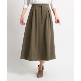 COUP DE CHANCE(クードシャンス) 【洗える】ベルト付フレアスカート