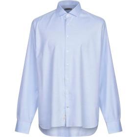 《期間限定 セール開催中》SEVENTY SERGIO TEGON メンズ シャツ スカイブルー 43 コットン 100%