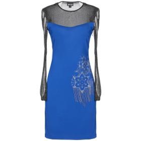 《9/20まで! 限定セール開催中》JUST CAVALLI レディース ミニワンピース&ドレス ブライトブルー 40 レーヨン 92% / ポリウレタン 8% / ナイロン / 金属繊維
