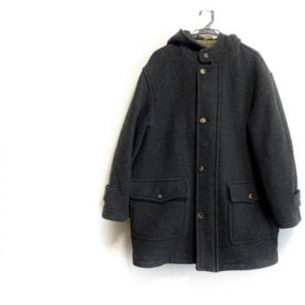 【中古】 ポールスチュアート PaulStuart コート サイズL メンズ ダークグレー フード/冬物