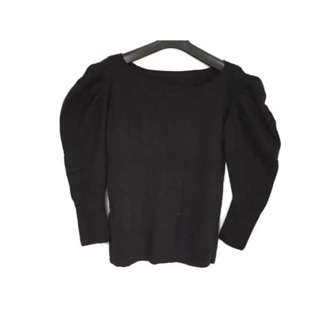 【中古】 グレースコンチネンタル GRACE CONTINENTAL 長袖セーター サイズ36 S レディース 黒