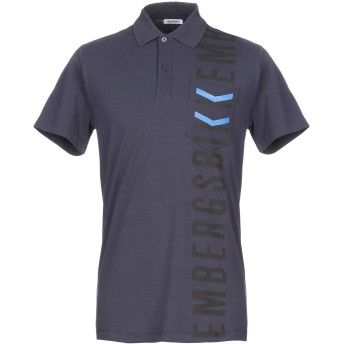 《期間限定セール開催中!》BIKKEMBERGS メンズ ポロシャツ ダークブルー XS コットン 96% / ポリウレタン 4%