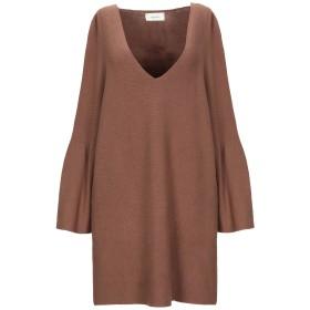 《セール開催中》VICOLO レディース ミニワンピース&ドレス ブラウン one size レーヨン 62% / ポリエステル 30% / 毛(アンゴラ) 8%