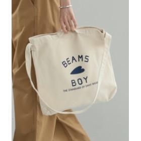 【WEB限定】BEAMS BOY / BBロゴ 2WAY トートバッグ レディース ショルダーバッグ NATURAL ONE SIZE