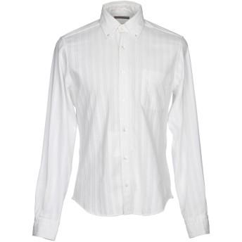 《期間限定セール開催中!》BOGLIOLI メンズ シャツ ホワイト 40 100% コットン