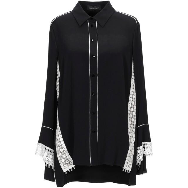 《セール開催中》MARIA GRAZIA SEVERI レディース シャツ ブラック 44 アセテート 69% / シルク 31% / ポリエステル