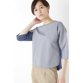 <HUMAN WOMAN/ヒューマンウーマン> ◆≪Japan couture≫布帛ドッキングニット(0779170410) ブルー 【三越・伊勢丹/公式】