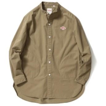 DANTON × B:MING by BEAMS / 別注 ツイル バンドカラー シャツ メンズ カジュアルシャツ MOLE BRN 40