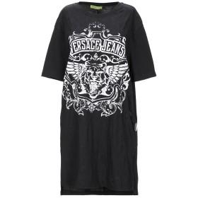 《期間限定セール開催中!》VERSACE JEANS レディース T シャツ ブラック XXS コットン 50% / ポリエステル 50%