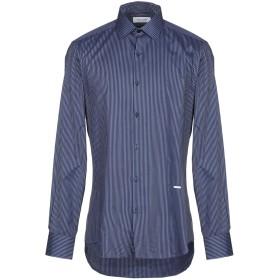 《送料無料》AGLINI メンズ シャツ ダークブルー 41 コットン 100%