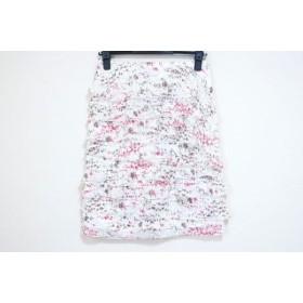 【中古】 エポカ EPOCA スカート サイズ38 M レディース 白 マルチ フリル/花柄