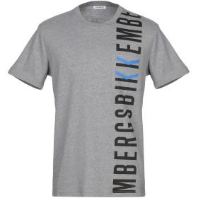 《期間限定 セール開催中》BIKKEMBERGS メンズ T シャツ グレー XS コットン 96% / ポリウレタン 4%