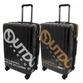 b308abe45e4 OUTDOOR PRODUCTS アウトドアプロダクツ キャリーケース ビッグロゴ TSAロック マチ幅拡張 ダブルホイール(双輪