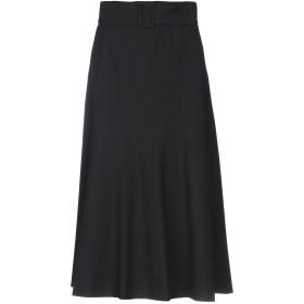 《期間限定 セール開催中》MARELLA レディース 7分丈スカート ブラック 42 ポリエステル 68% / レーヨン 29% / ポリウレタン 3%
