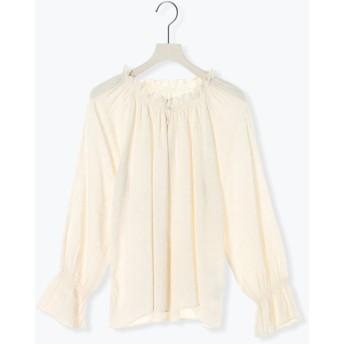 【6,000円(税込)以上のお買物で全国送料無料。】ギャザー衿ブラウス