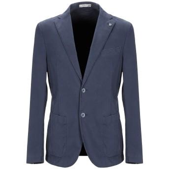 《期間限定セール開催中!》MANUEL RITZ WHITE メンズ テーラードジャケット ブルー 50 コットン 98% / ポリウレタン 2%