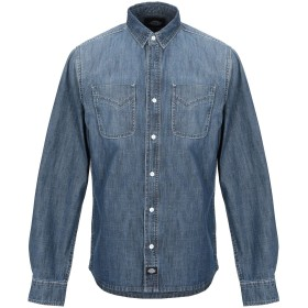 《期間限定 セール開催中》DICKIES メンズ デニムシャツ ブルー S コットン 100%