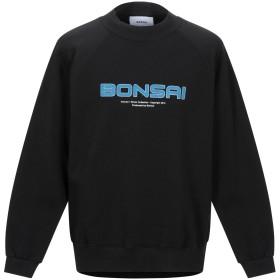 《期間限定セール開催中!》BONSAI メンズ スウェットシャツ ブラック S コットン 95% / ポリウレタン 5%