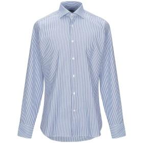 《期間限定セール開催中!》CALIBAN メンズ シャツ アジュールブルー 38 コットン 100%