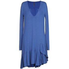 《セール開催中》MANILA GRACE レディース ミニワンピース&ドレス ブルー 42 レーヨン 95% / ポリウレタン 5%