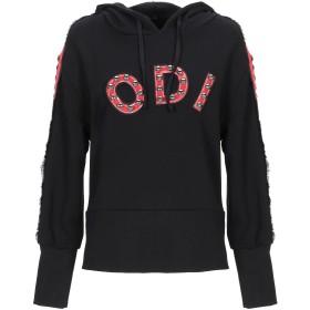 《セール開催中》ODI ET AMO レディース スウェットシャツ ブラック XS コットン 100%